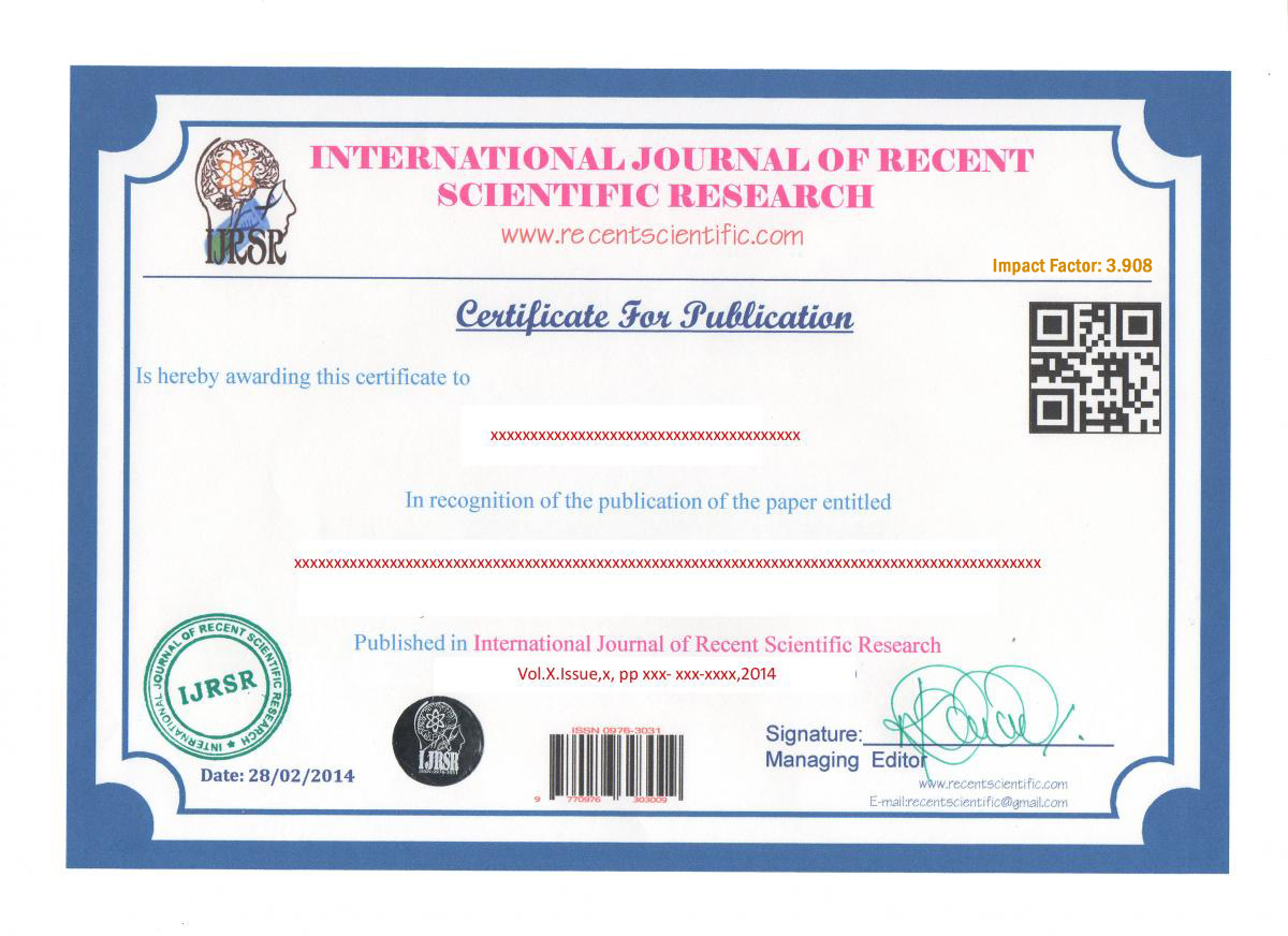 Welcome to ijrsr international journal of recent scientific research sample certificate yadclub