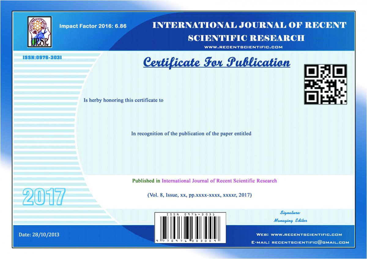 Current Issue | International Journal of Recent Scientific